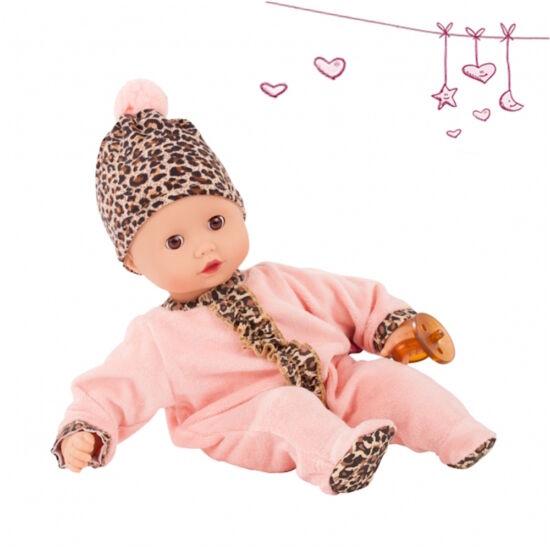 GÖTZ puhatestű, öltöztethető, Muffin baba, tigrismintás ruhában